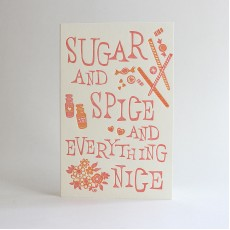 Sugar & Spice Letterpress Card