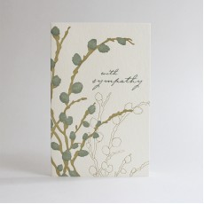 Sympathy Willow Letterpress Card