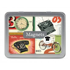 Vintage 24 Magnets in Tin